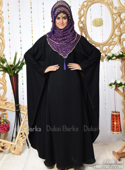 Irani Exclusive Black Nida Kaftan Borka