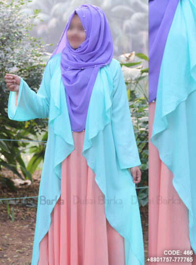 Sky Color Georgette Simple Design Cape