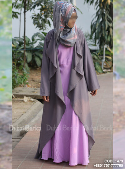 Georgette Cape Light Grey Color Simple Design