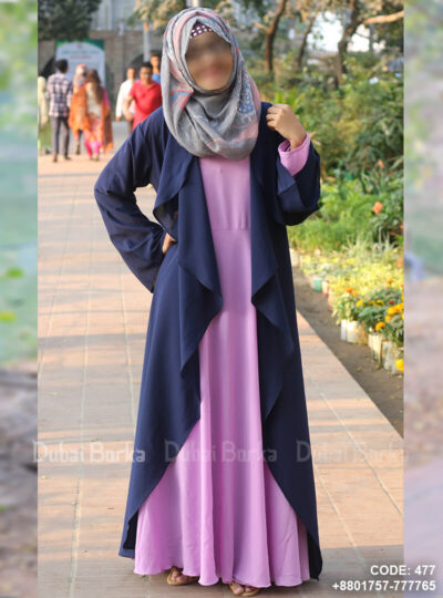 "Product Code: 477 Name: Georgette Cape Navy Blue Color Simple Design Style:  Simple Flyers Color: Navy Blue Fabric Info: Elasticity of the material enables strength and durability. Light weight of the fabric keeps the condition better for longer use.  georgette Size of the item: FREE SIZE Delivery: The item is given to delivery within ""5 Days"". Note: Inner Gown & Hijab excludes"