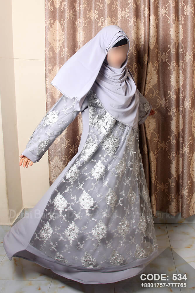 Dubai Party Design Borka with Hijab