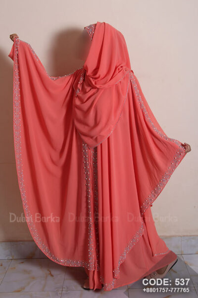 Dubai Double Part Kaftan Design Abaya With Matching Hijab